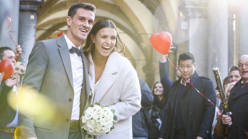 Bundesliga-Braut: Laura Wontorra heiratet Simon Zoller