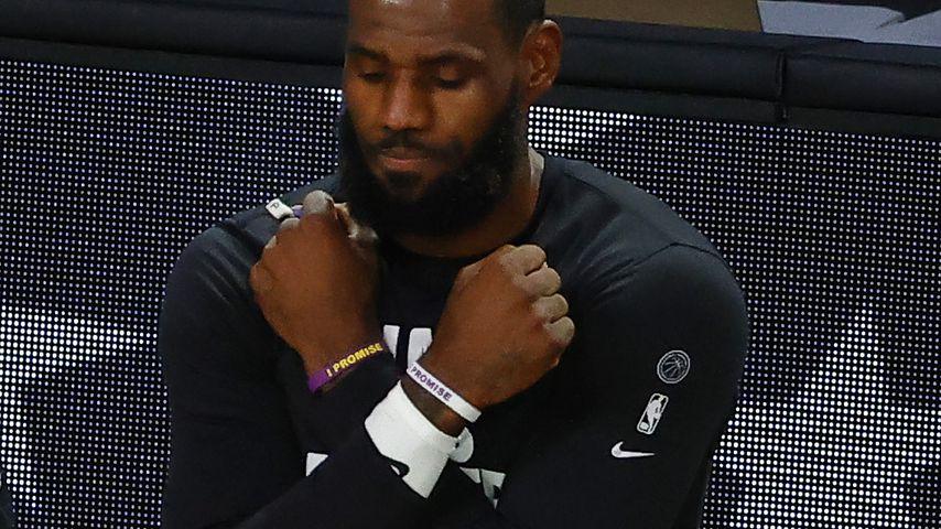 LeBron James bei einem NBA-Playoff-Spiel in Florida im August 2020