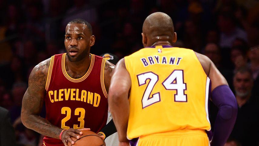 LeBron James und Kobe Bryant im März 2016