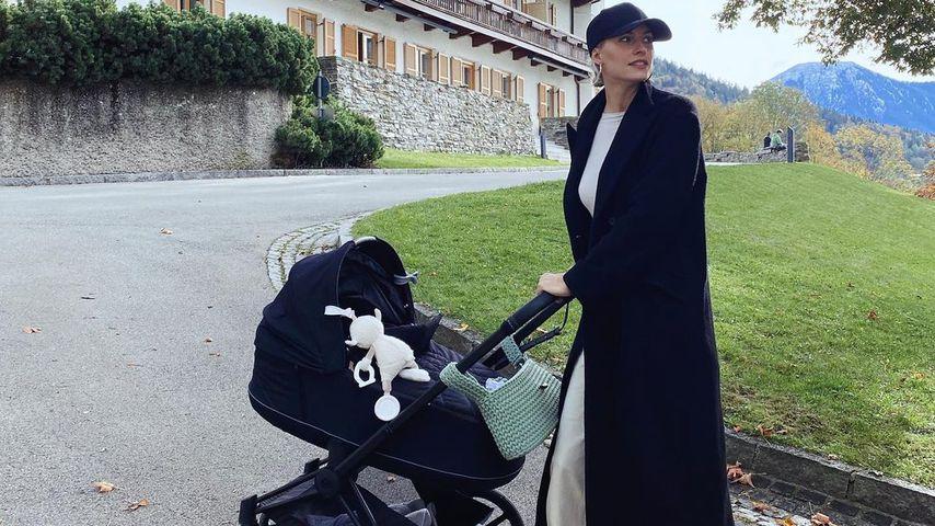 Lena Gercke mit ihrer Tochter Zoe