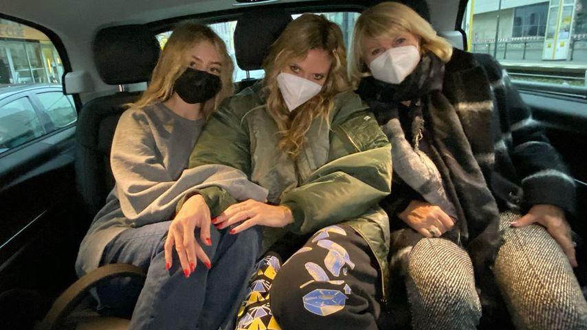 Leni, Heidi und Erna Klum im November 2020