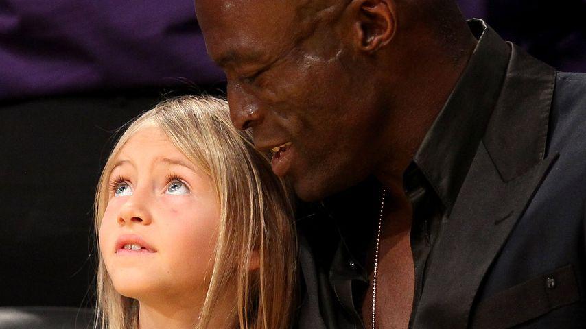 Leni Klum mit ihrem Vater Seal im März 2012