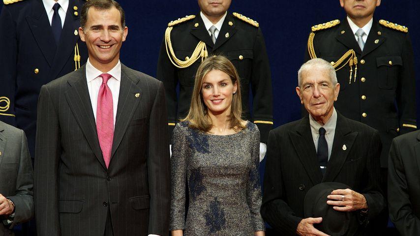 Leonard Cohen, Prinz Felipe von Spanien und Prinzessin Letizia von Spanien 2011