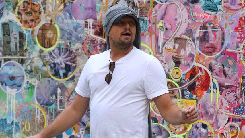 Leonardo DiCaprio undercover: Kunst-Fan in Jacken-Cap-Kombi!