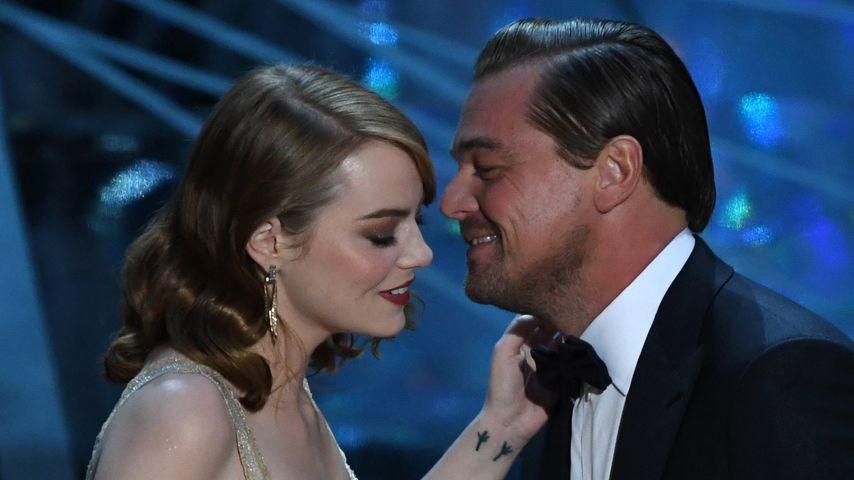 Emma Stone und Leonardo DiCaprio bei den Oscars 2017