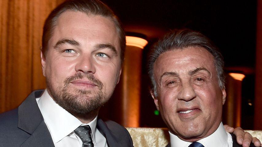 Leonardo DiCaprio und Sylvester Stallone