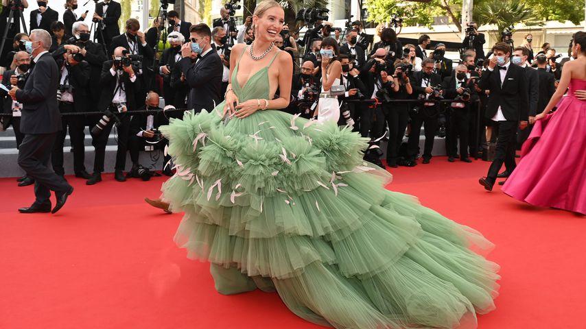 Bloggerin Leonie Hanne beim Filmfestival in Cannes, Juli 2021