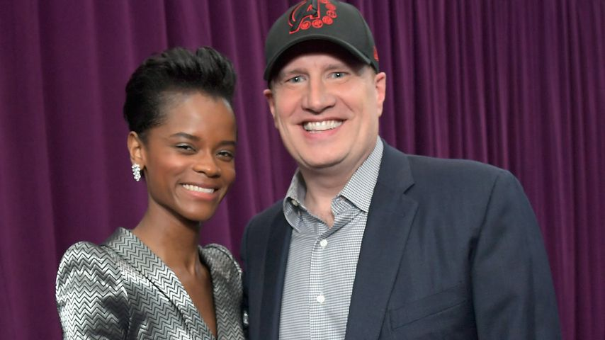 "Letitia Wright und Kevin Feige bei der ""Avengers: Endgame""-Premiere in L.A. im April 2019"