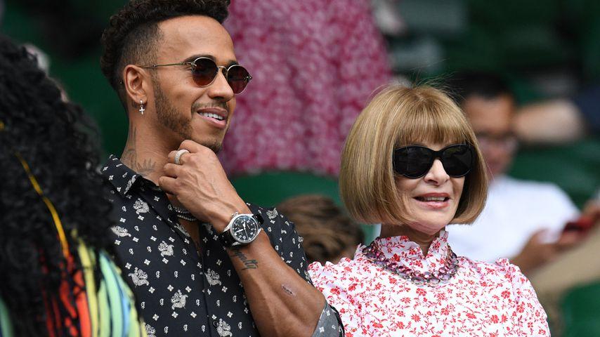 Lewis Hamilton und Anna Wintour in Wimbledon
