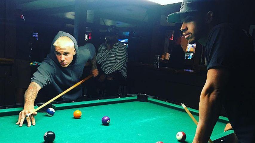 Dreamteam? So cool chillt Justin Bieber mit Lewis Hamilton