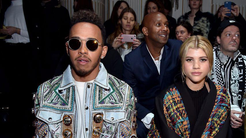 Lewis Hamilton und Sofia Richie bei der Balmain-Fashionshow 2017