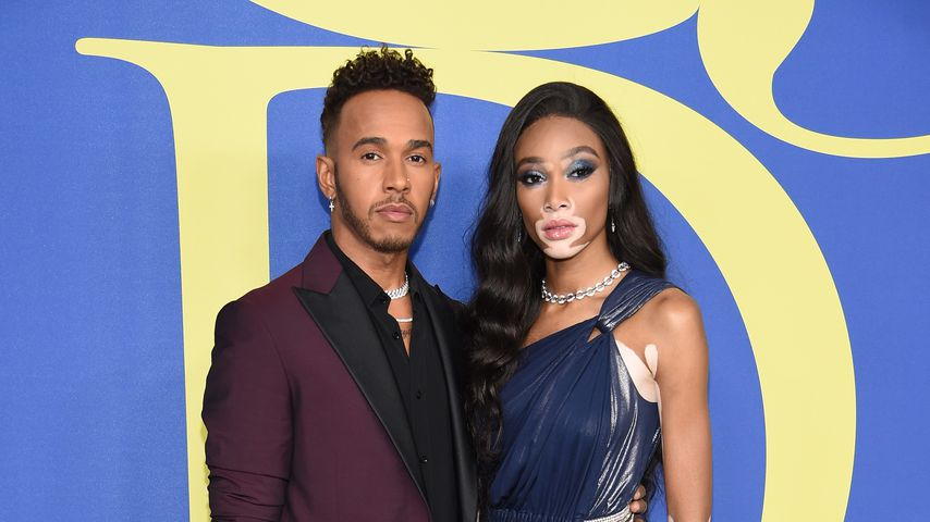 Lewis Hamilton und Winnie Harlow bei den CFDA Fashion Awards 2018