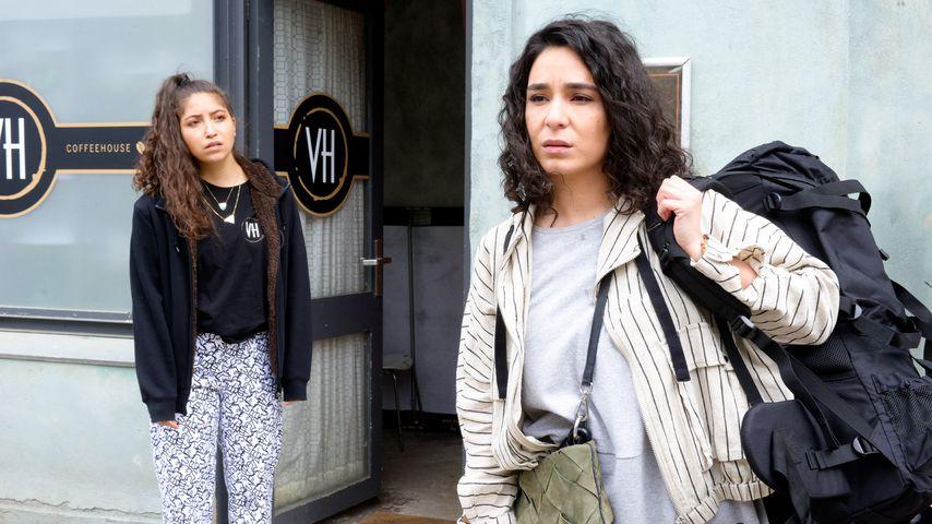 Leyla (Livia Gaiser) und Shirin (Gamze Senol) in einer GZSZ-Szene