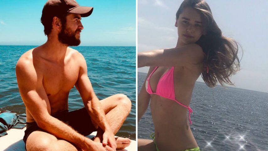 Total verliebt: Liam Hemsworth küsst neue Freundin am Strand