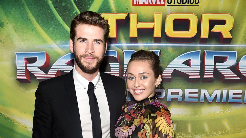 """Liam Hemsworth und Miley Cyrus bei der """"Thor: Ragnarok""""-Premiere 2017"""