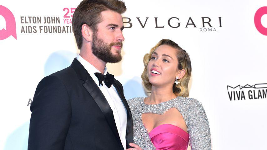 Liam Hemsworth und Miley Cyrus bei einem Event 2018