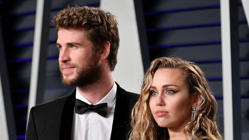 Liam Hemsworth und Miley Cyrus bei der Vanity Fair Oscar Party 2019