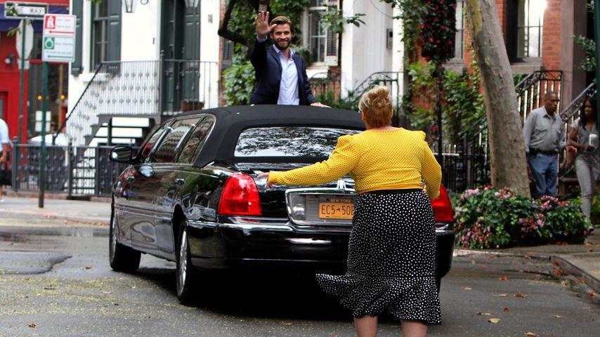 "Liam Hemsworth mit Rebel Wilson am ""Isn't It Romantic""-Set in NYC"