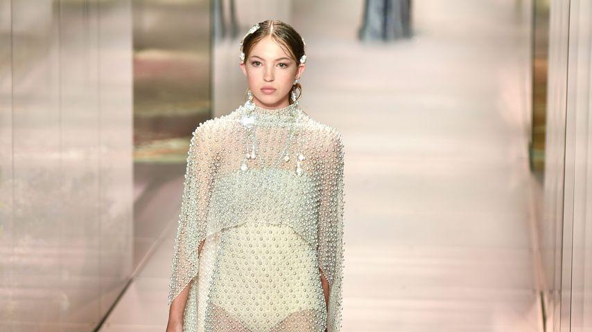 Lila Moss bei der Paris Fashion Week 2021