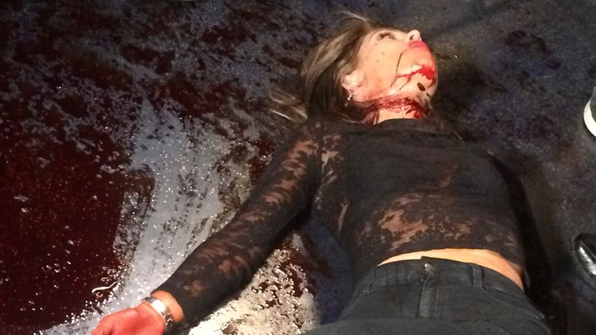 "Liliana Nova beim Dreh zu ""Blood Feast"""