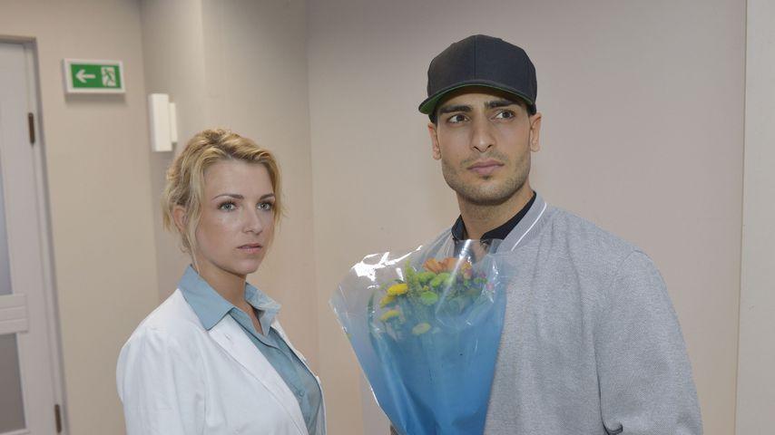 Lilly (Iris Mareike Steen) und Nihat (Timur Ülker) im Krankenhaus