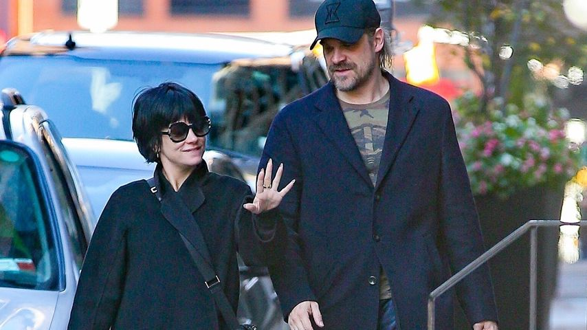 Lily Allen und David Harbour, November 2019