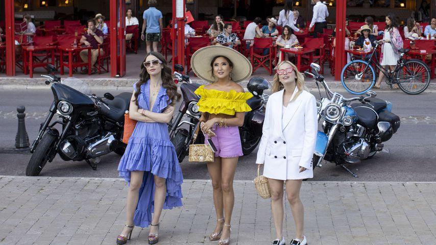 """Lily Collins, Ashley Park und Camille Razat in """"Emily in Paris"""""""
