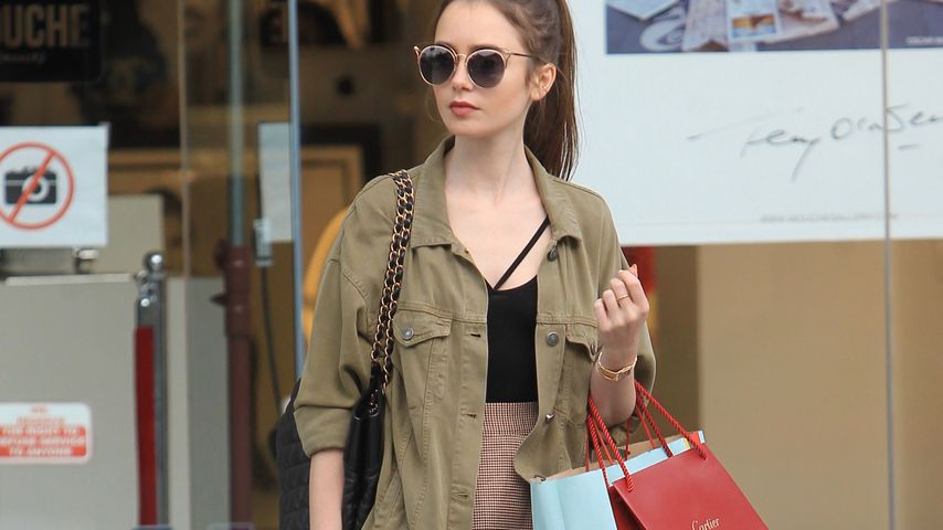 Lily Collins in Los Angeles