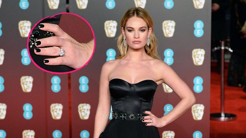 Mit XXL-Klunker auf Red Carpet: Ist Lily James etwa verlobt?