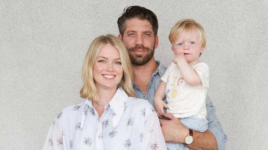 Lindsay Ellingson mit ihrem Mann Sean Clayton und Sohnemann Carter