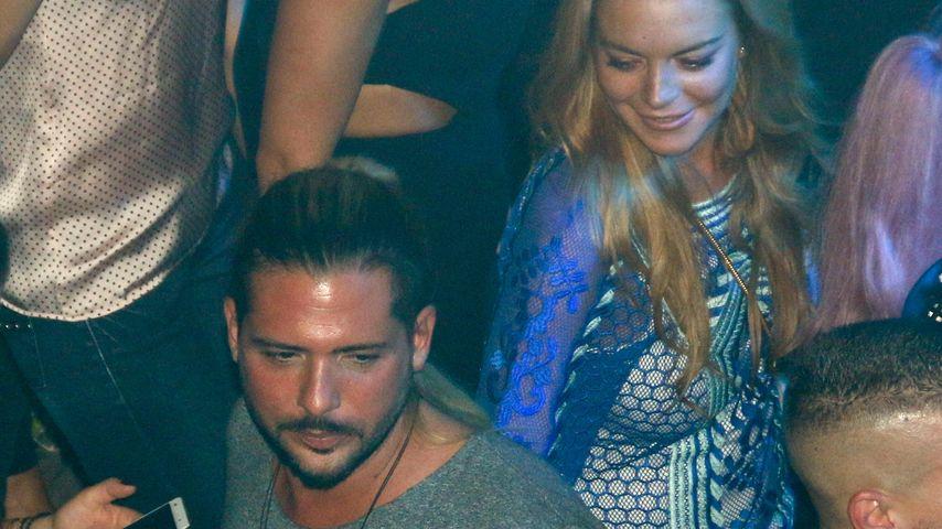 Lindsay Lohan mit Dennis Papageorgiou im Bouzoukia in Athen, Griechenland