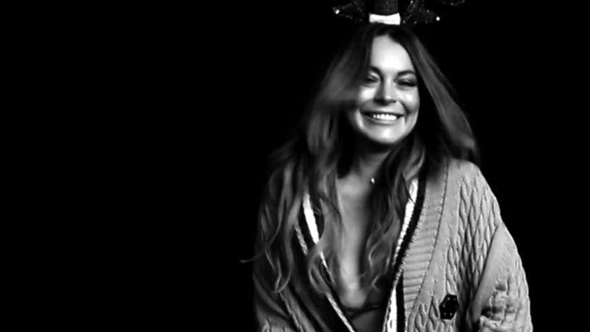 So neckisch grüßt uns Lindsay Lohan zu Weihnachten