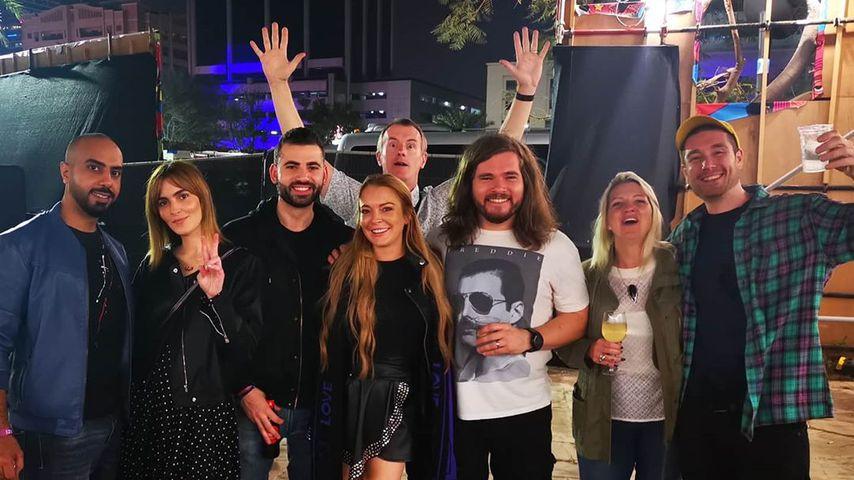 Lindsay Lohan mit ihren Freunden