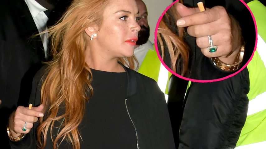 Reunion mit Egor? Lindsay Lohan legt Verlobungsring nicht ab