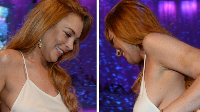 BH vergessen - Lindsay Lohan luftig in Österreich