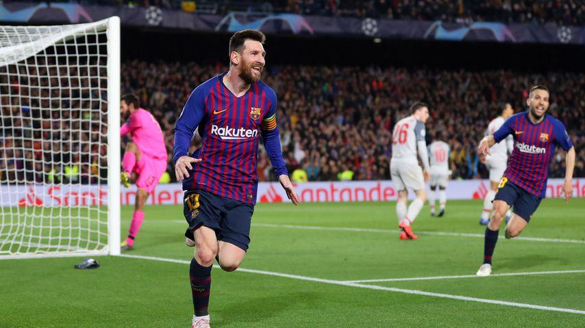 Lionel Messi mit Barcelona gegen Liverpool
