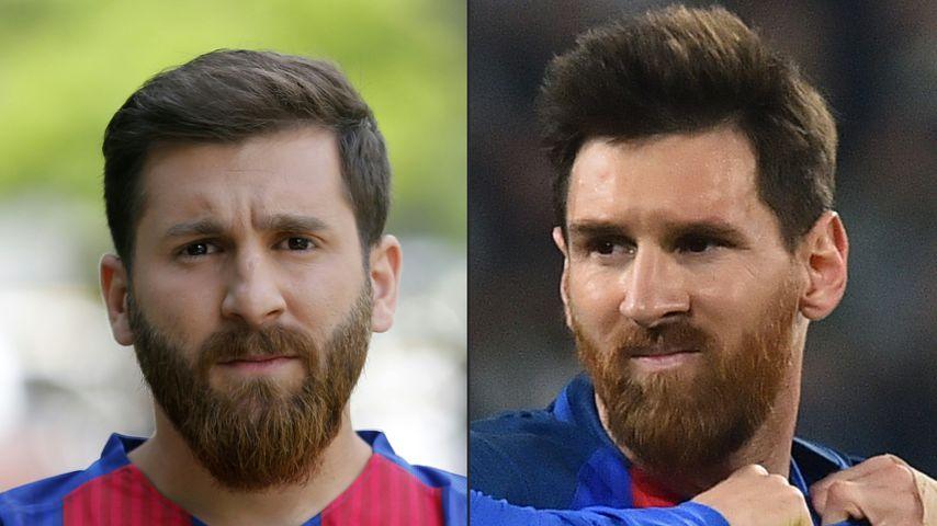 Wie Zwillinge: Iranisches Messi-Double in Moskau verhaftet!