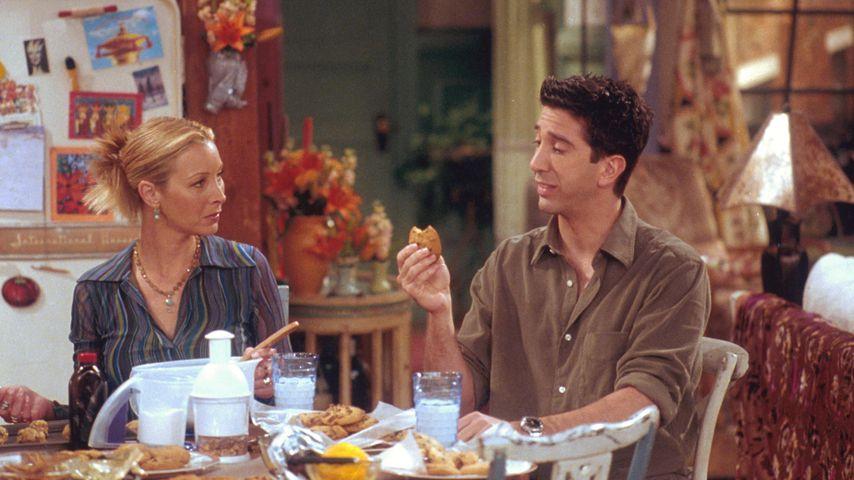 """Lisa Kudrow und David Schwimmer am """"Friends""""-Set"""