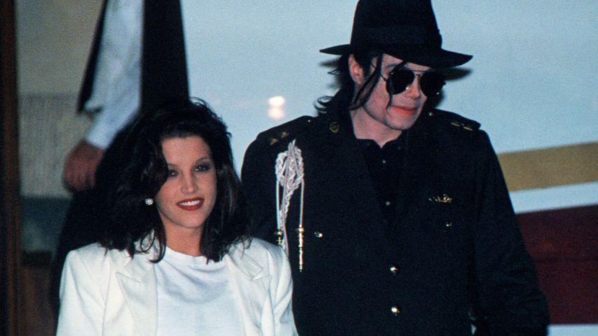 Lisa Marie Presley und Michael Jackson in Budapest, August 1994