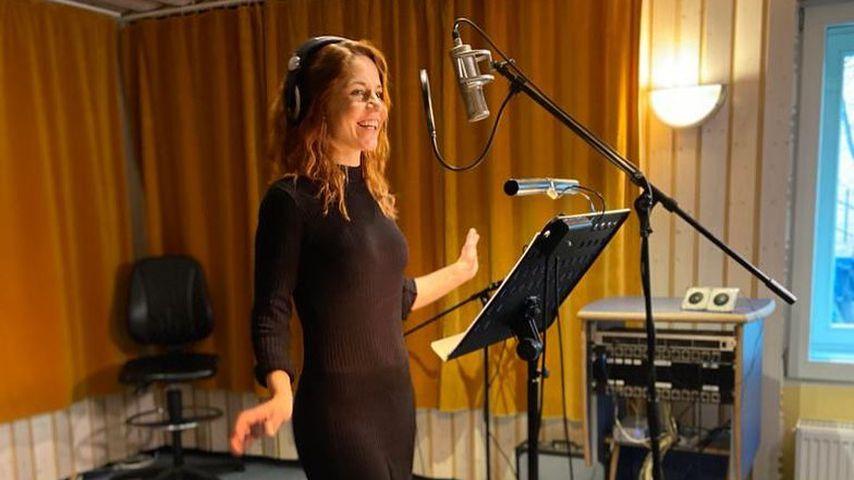 Lisa Wohlgemuth im Tonstudio
