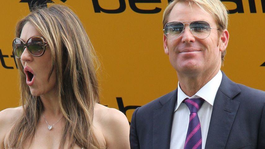 Liz Hurley und Shane Warne