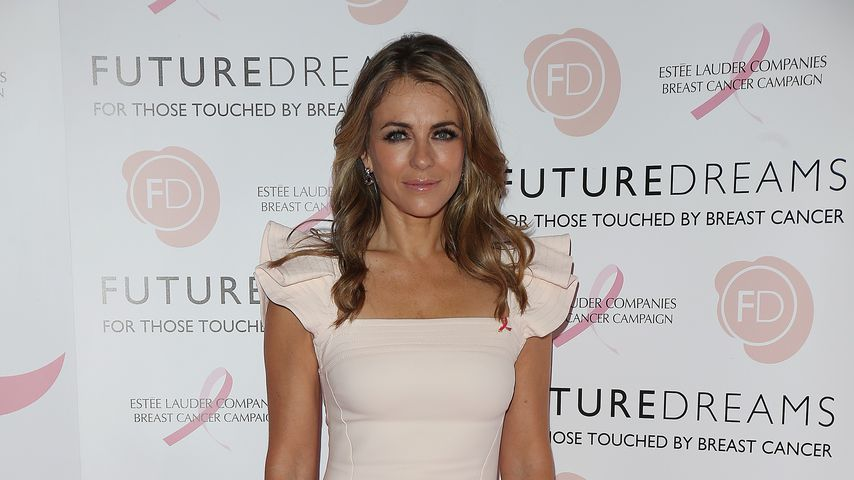 Liz Hurley in London