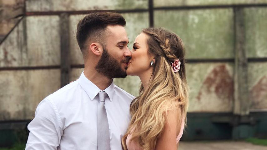 Liz Kaeber mit ihrem Verlobten Nick, August 2017