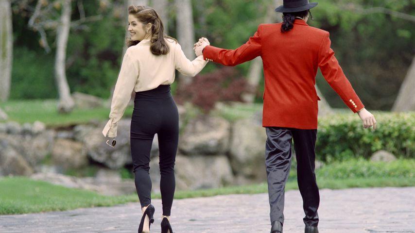 Lisa Marie Presey und MIchael Jackson 1995