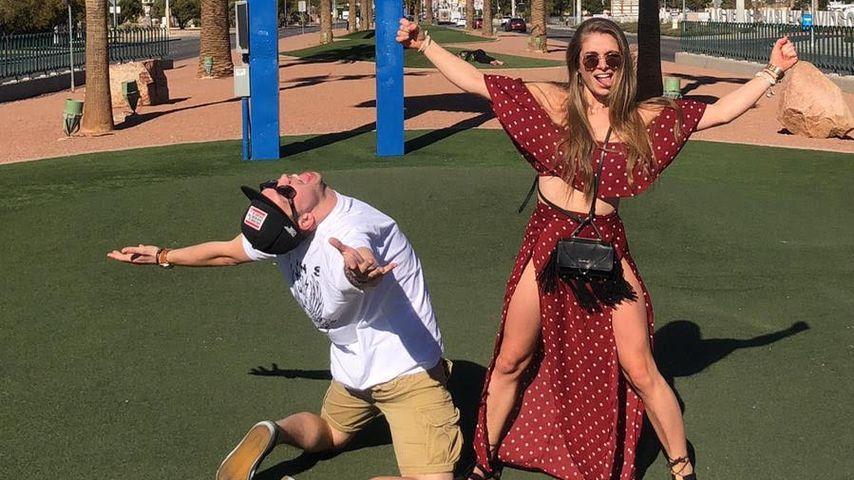 Lola Weippert und ihr Freund in Las Vegas 2019
