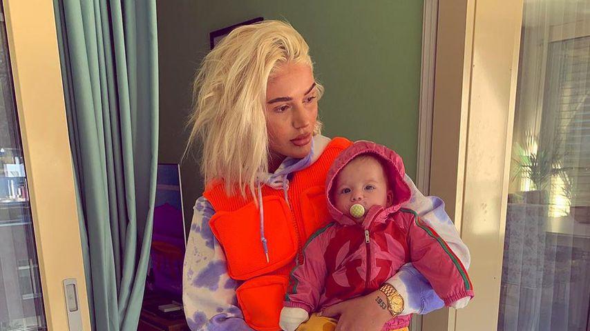 Loredana Zefi und ihre Tochter Hana im März 2019