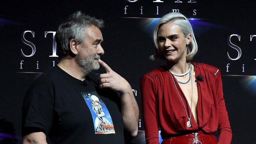 Luc Besson und Cara Delevingne