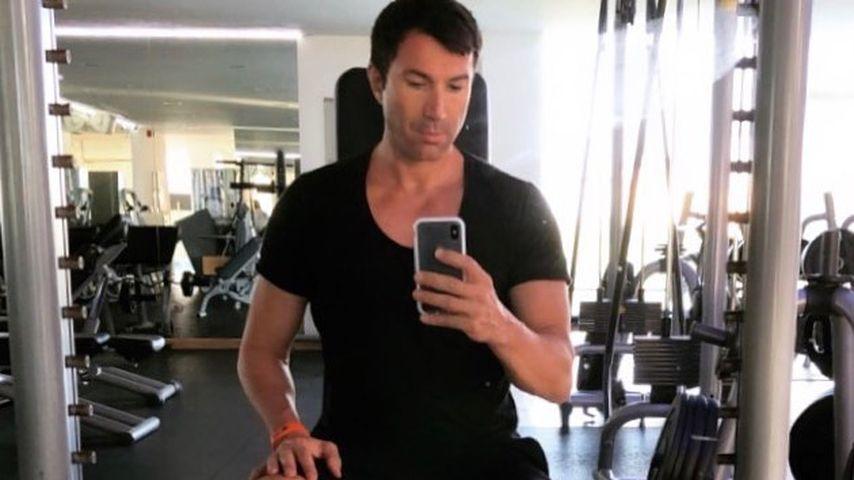 Lucas Cordalis im Fitnessstudio