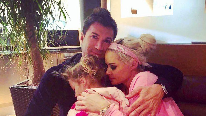 Lucas Cordalis mit seiner Frau Daniela Katzenberger und Töchterchen Sophia