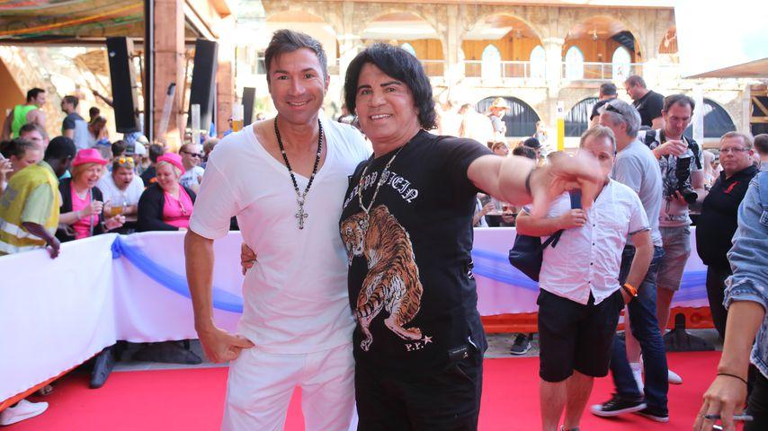 Lucas Cordalis mit seinem Vater Costa, Mai 2018